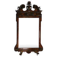 An 18th Century Mahogany Mirror