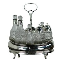 George III Sterling Cruet Set
