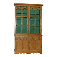 Gothic Style English Pine Cabinet