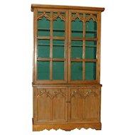 Gothic Style English Pine Cabinet