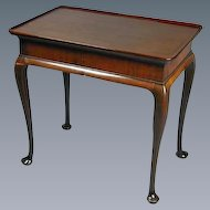 George II Mahogany Silver Table with Dished Top and Cabriole Legs (c. 1750 England)