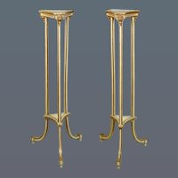 Pair George III Painted and Gilded Torcheres (c. 1790 England)