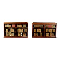 Pair Georgian Mahogany Open Bookshelves (c. 1820 England)