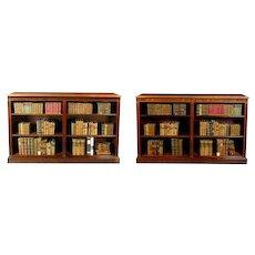 Pair Georgian Mahogany Open Bookshelves (c. 1820 England)