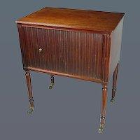George III Mahogany Tambour Fronted Pot Cupboard (c. 1800 England)