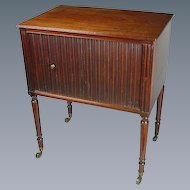 George III Mahogany Tambour Fronted Pot Cupboard (c. 1800 England)