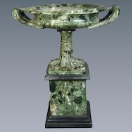 Grand Tour Verde Antico Marble Tazza (c. 1820 Italy)