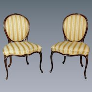 Set of 6 George III cabriole leg chairs in the French Hepplewhite style. England, c.1775