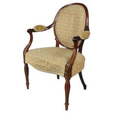 George III mahogany armchair attributed to Mayhew & Ince. England, c.1780