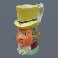 19th Century Staffordshire Jug depicting PAUL PRY. (c. 1840 England)