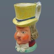 19th Century Staffordshire Jug depicting PAUL PRY. (c. 1840 England)