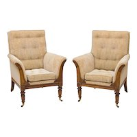 A fine pair of Regency Goncalo Alves tub chairs. England, c.1820