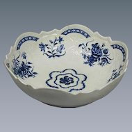 Worcester Blue & White Bowl (c. 1775 English)