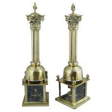 Pair of Regency Brass Incense Burners. (c. 1820 England)