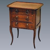 Late 18th Century Miniature French Fruitwood Chest on Cabriole Legs. (c. 1780 French)