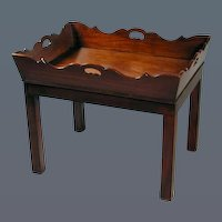 George III Mahogany Butler's Tray on Modern Base (c. 1820 England)