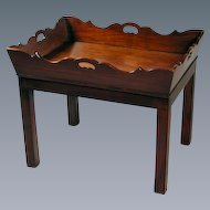 George III Mahogany Butler's Tray on Modern Base (c. 1820 England)