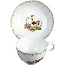 Hague Cup and Saucer, (c. 1780 Netherlands)