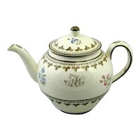 Wedgwood Painted Creamware Punch Pot (c. 1780 England)