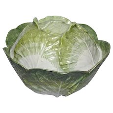 French or German Faience Cabbage Tureen (c. 1760 France or Germany)