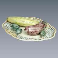 Italian Faience Dish of Vegetables (c. 1760 Italy)