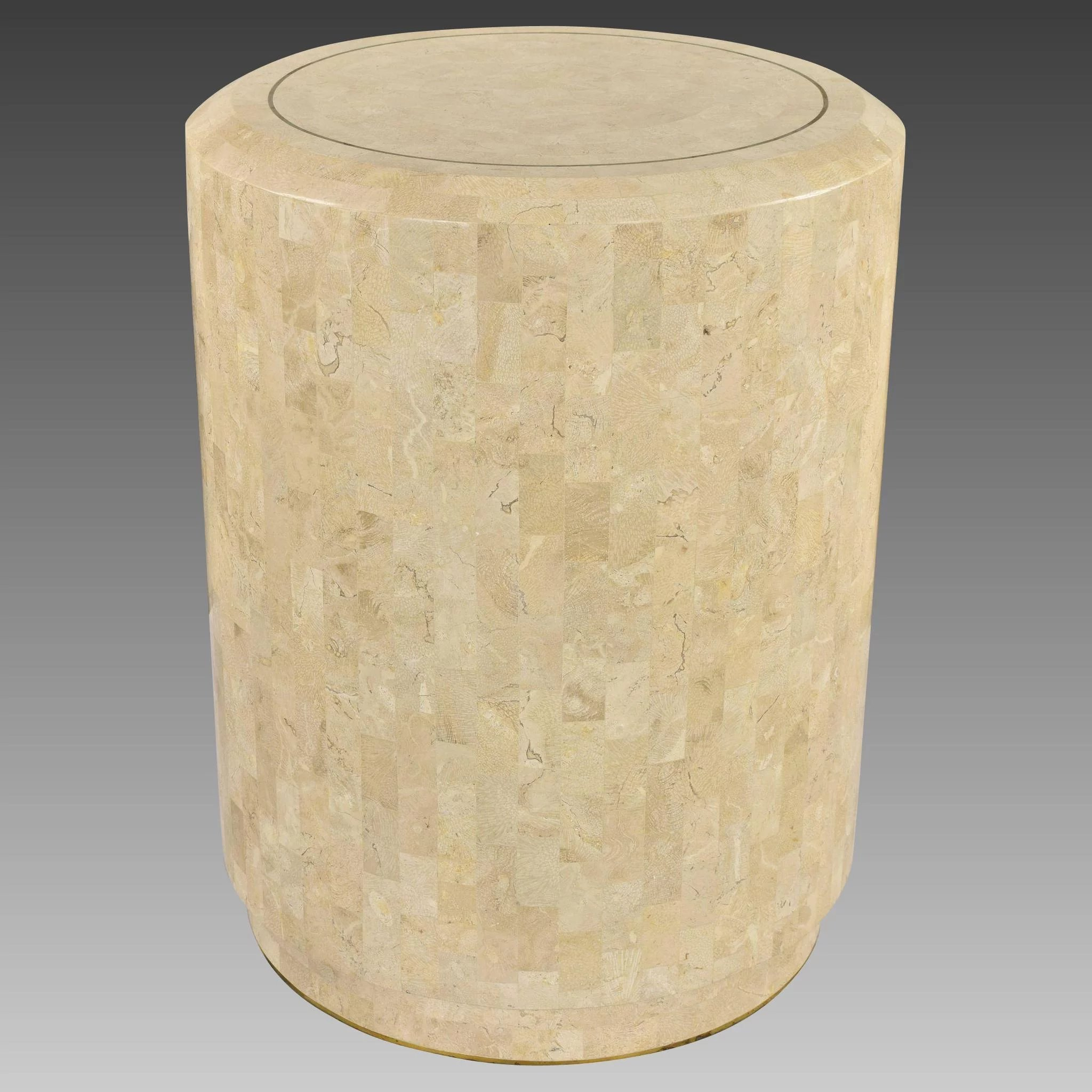 Vintage Maitland Smith Tessellated Marble Side Table Or