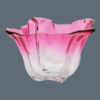 Frederick Carder Steuben Grotesque Bowl - Gold Ruby to Clear