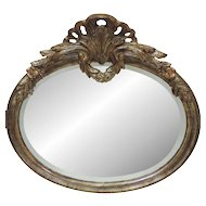Vintage La Barge Italian Mirror - Carved Wood and Beveled Mirror