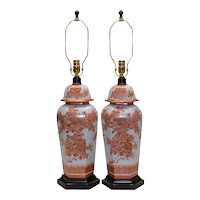 Pair Mid-Century Paul Hanson Asian Lamps