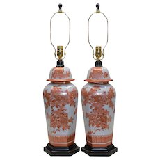 Pair Mid-Century Paul Hanson Asian Lamps