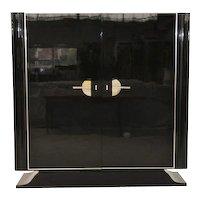 Art Deco Black High Gloss Cabinet