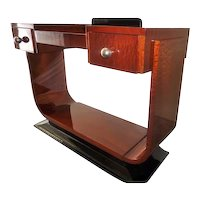 Big Art Deco Mahogany Console Table