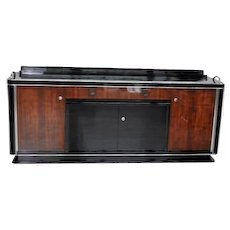 1930s Art Deco Buffet with a Rosewood-Veneer