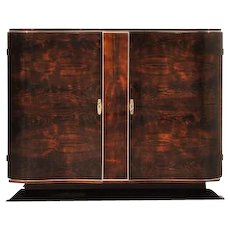 Art Deco Walnut Commode with Serpentine Doors