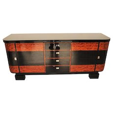 Art Deco Credenza with Piano Lacquer