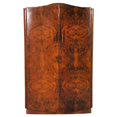 Art Deco Burl Wood Wardrobe