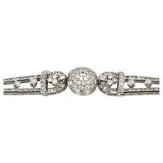 Longines Diamond Platinum Covered Dial Watch 7.25 Carats of Diamonds VS G-H 17 Jewels