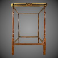 A fine George III Chinoiserie four-poster bed firmly attributed to Gillows