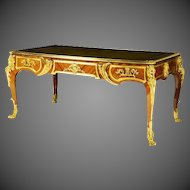 A French Kingwood Bureau Plat Late 19th/early 20th Century