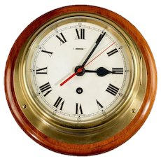 "6 ½ ""dial Smith's Astral ship's bulkhead clock"