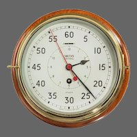 Smiths astral bulkhead clock, 8 inch