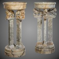 Pair of Italian alabaster jardinieres