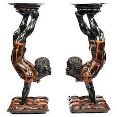 Venetian Blackamoor side tables