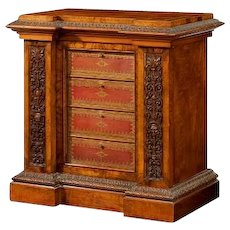 A Victorian library cabinet