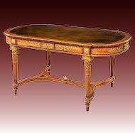 A large Napoleon III kingwood bureau plat