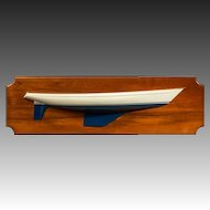 Shipbuilder's half-block model of classic 1960's yacht