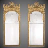 A Pair of George I Style Victorian Giltwood Mirrors