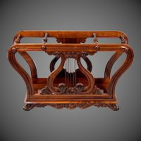 A Late Regency Rosewood Music Roll Holder