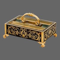 An Antique Regency Boulle Work Desk Tray