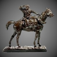 Bronze Sculpture of a Cossack